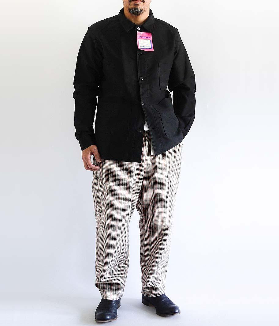 MONT KEMMEL ブラックモールスキンフレンチワークジャケット