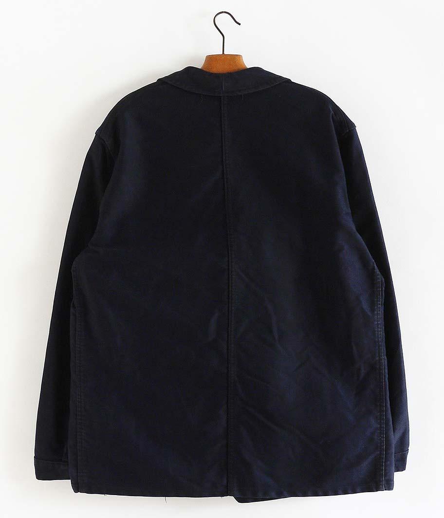 ネイビーモールスキンフレンチワークジャケット
