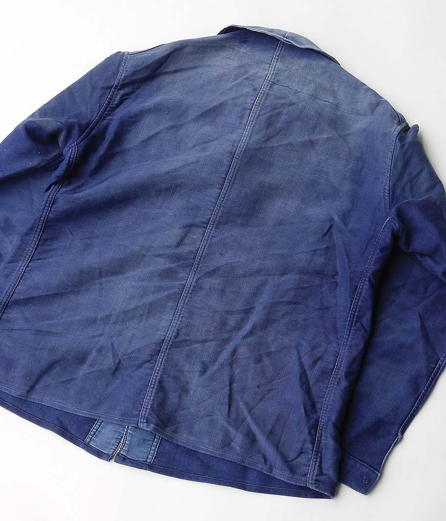 40's-50's ブルーモールスキンフレンチワークジャケット