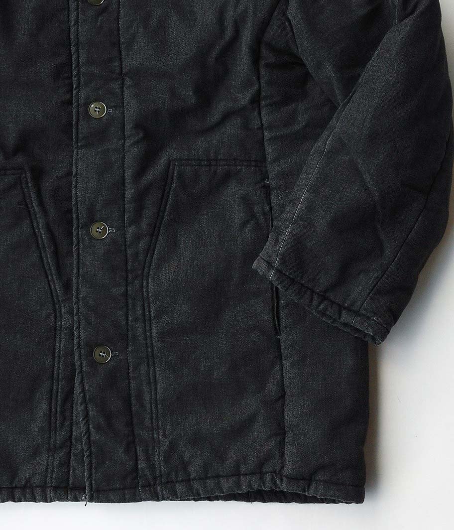 ビンテージジャーマンパディングワークジャケット [overdye/ BLACK]