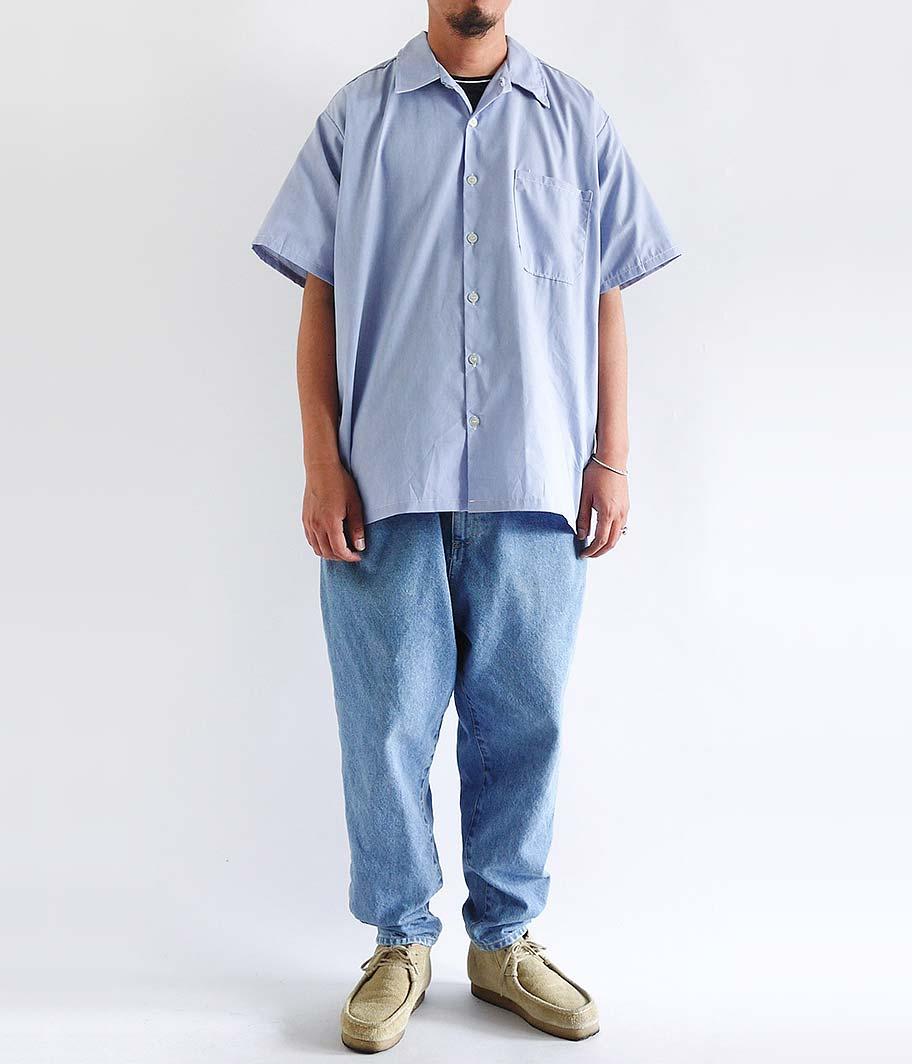 US  ショートスリーブワークシャツ [Dead Stock]