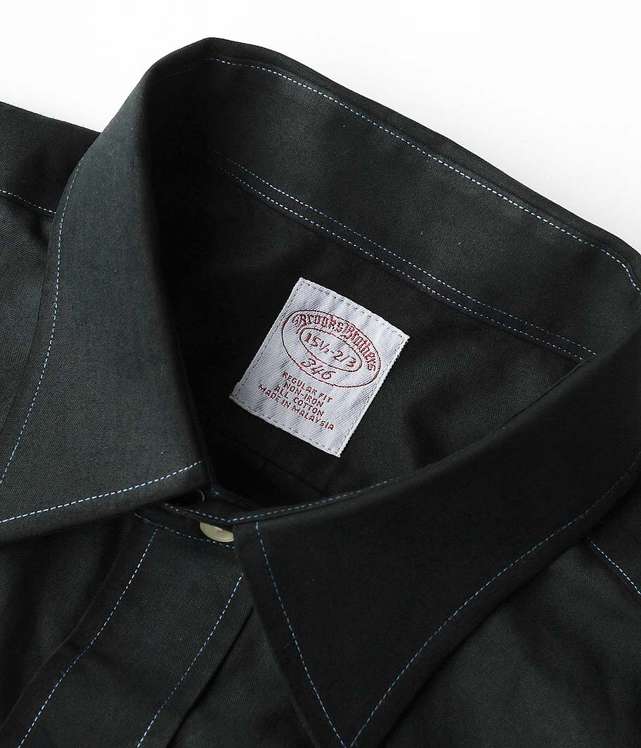 Brooks Brothers ロングスリーブシャツ [Overdyed BLACK]