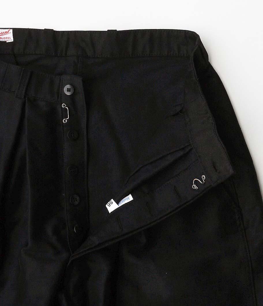 Customized by RADICAL 70's ブラックモールスキンフレンチワークパンツ[Dead Stock]