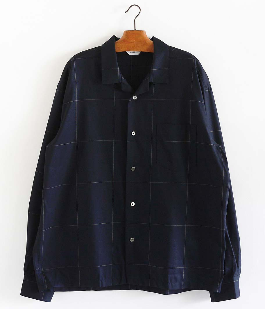 WELLDER Back Tack Open Collar Shirt